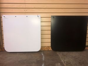 "Black & White 24x24 3.2lbs Safe Pass. 240"" Grooved, Low Spray, Poly Mud Flaps for Sale in San Leandro, CA"