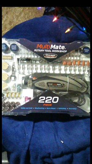 Chicago electric power tools multi-mate 220piece rotary tool workshop kit for Sale in Portland, OR