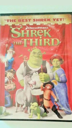 """Dvd """"SHREK THE THIRD"""" tested and works great/ FAST SHIPPING for Sale in Littleton, MA"""