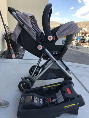 GB Travel System - car seat, base, stroller for Sale in New Washoe City, NV