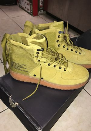 DESSERT MOSS NIKE AIR FORCE 1s for Sale in Laurel, MD
