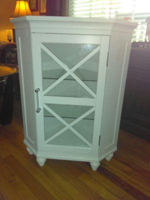 White Corner Floor Cabinet for Sale in Atlanta, GA
