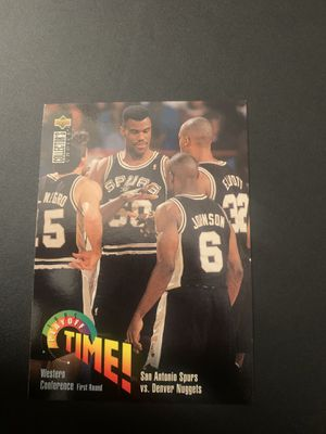 1995 San Antonio Spurs Playoffs Basketball Card for Sale in Houston, TX