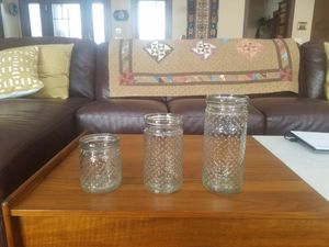 Hobnail mason jars from Anthropologie for Sale in Rhinelander, WI