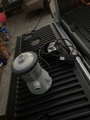 Intex Krystal Clear Cartridge Filter Pool Pump, 330 GPH Pump Flow Rate like new used once for Sale in Artesia, CA
