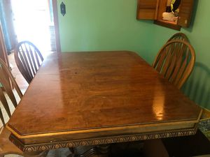 Dining room table and chairs and hutch for Sale in Erie, PA