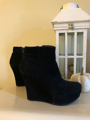 Sassy Pair is Short-Cut Black Ankle Boots for Sale in Denver, CO