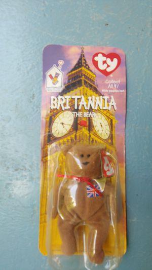 Britannia the bear Beanie Baby Rare for Sale in Taylor Lake Village, TX