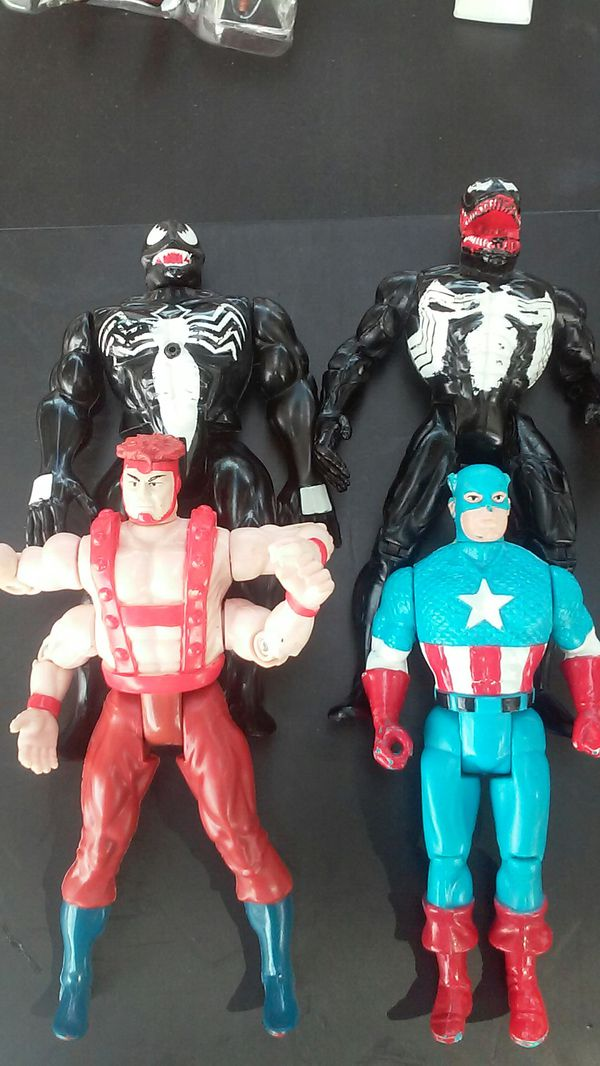4 marvel toy biz figures