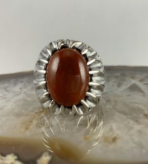 Burmese Red Jade Ring In Sterling Silver for Sale in Thornton, CO