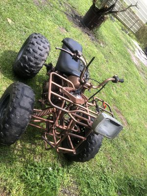Atv four wheeler willing to trade for dirt bike or go cart for Sale in Waycross, GA