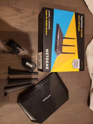 Nighthawk AC1750 wifi router for Sale in Clarksburg, MD