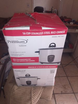 16 cup stainless steel rice cooker 20 for Sale in Miami Gardens, FL