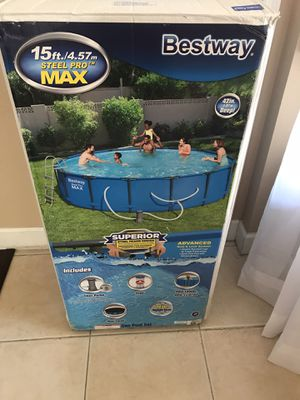 Bestway 56687E Pro MAX Above Ground, 15ft x 42in | Steel Frame Round Pool Set for Sale in Alafaya, FL