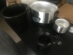 6.5 Quart Slow Cooker w/ Mini Crock Pot for Sale in Elkridge, MD