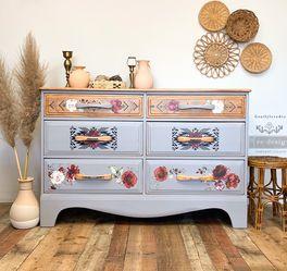 Solid Wood Boho Dresser for Sale in Fontana,  CA