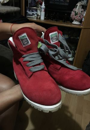 Red Timberlands boots size 11 for Sale in Boston, MA