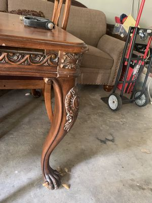 Antique Table w/ 2 chairs for Sale in Houston, TX