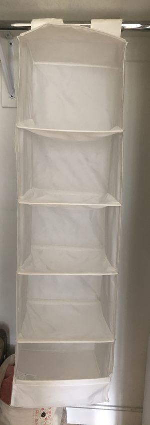 IKEA Hanging cloths organizer with 5 compartments for Sale in Brooklyn, NY