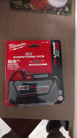 Milwaukee m18 red lithium battery 5.0 for Sale in Fort Lauderdale, FL