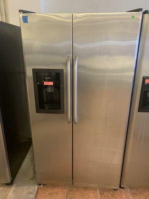 GE Side By Side Refrigerator 1 Year Warranty for Sale in San Antonio, TX
