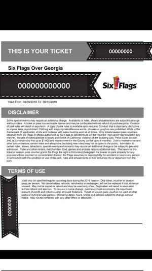 Six Flags Over Georgia tickets for Sale in Austell, GA