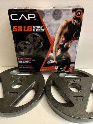 Weights CAP 25 lbs Olympic Plate set for Sale in West Covina, CA