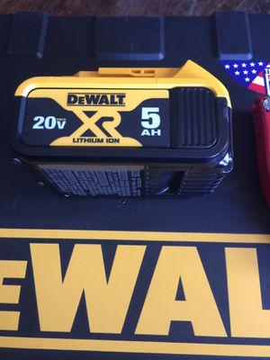 Dewalt 5.0ah batteries for Sale in Rialto, CA