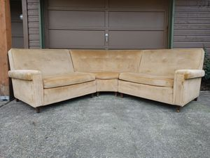 Mid Century Modern Vintage Sectional Sofa (FREE Local Delivery) for Sale in Portland, OR