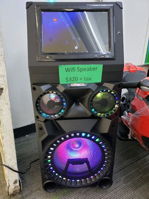 BLUETOOTH SPEAKER SYSTEM WITH WIFI TAB AND FREE KARAOKE AND REMOTE CONTROL for Sale in South Houston, TX