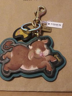 Lunar New Year Ox Bag Charm In Signature Canvas for Sale in Hawaiian Gardens,  CA
