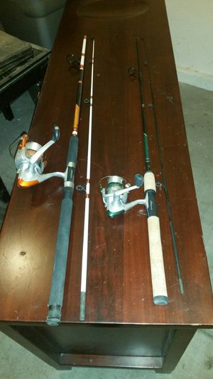 Shakespere Catfish and Shakespere Trout fishing rods. for Sale in Las Vegas, NV