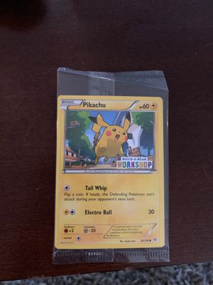 Pikachu Pokemon Card from build-a-bear for Sale in Columbus, OH