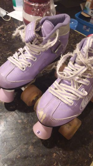Kids pacer rollerskates size 2 for Sale in Vancouver, WA