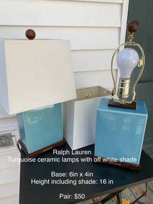 Ralph Lauren Lamps (2) for Sale in Milton, MA