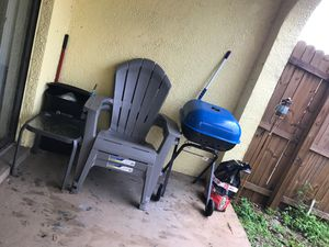 Chairs grill table free need gone for Sale in Tampa, FL