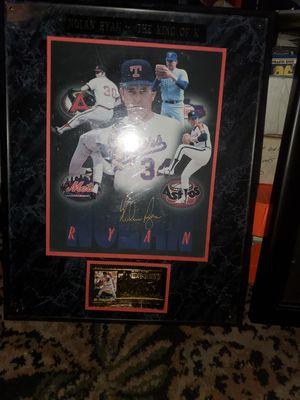 Nolan Ryan Autographed plaque for Sale in Broken Arrow, OK