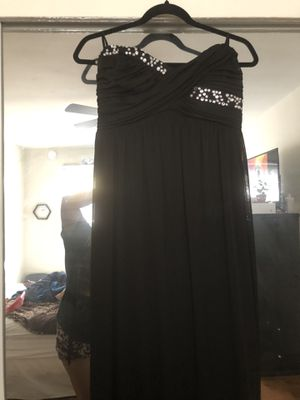 Size: XL Black Dress with Rhinestones | Prom Formal Strapless Long Dress Extra Large for Sale in Compton, CA