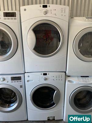 Front Load Washer Electric Dryer Set GE Stackable #1268 for Sale in Melbourne, FL