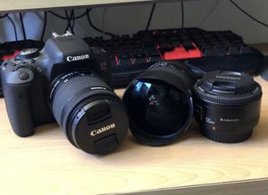 Canon Rebel T6i With extras for Sale in Orcutt, CA