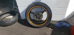 Motercycle rim (slight bent) for Sale in Gibsonton, FL