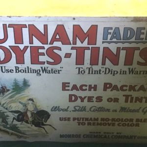 Antique Putnam Fadeless Dyes Tints Advertising Store Display for Sale in Seal Beach, CA