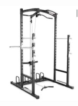 Full home gym BRAND NEW equipment squat bench rack pull up lat system for Sale in Sunnyvale, CA