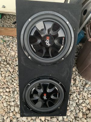 """12"""" subwoofers with box for Sale in San Bernardino, CA"""