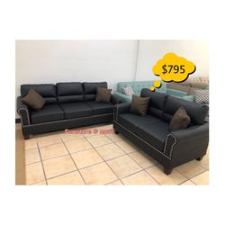 Two Piece Sofa Set Available Brand New In Box 📦 😍 Qualify To Buy Now & Pay In 90 Days ! for Sale in Bell Gardens,  CA