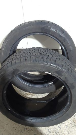 2 Tires Continental 245/45R18 lots tread for Sale in Sterling, VA