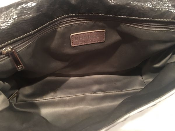 08891789e85b Preowned CHANEL Grey Black Silver Ombre Melrose Degrade JUMBO Flap ...