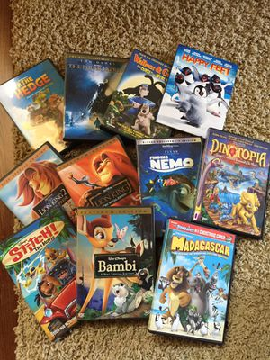 Kids DVD's 11 Movies with Cases for Sale in Renton, WA