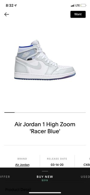 Looking for Jordan 1 zoom racer blue for Sale in Portland, OR