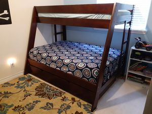 Bunk bed with trundle and mattresses for Sale in Carrollton, TX
